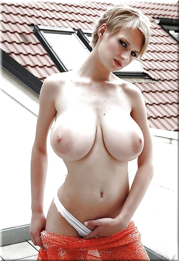 Hot Blonde Girl With Big Natural Tits
