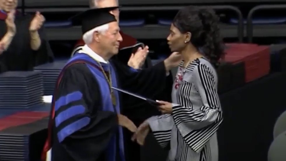 WATCH: Woman accepts diploma on behalf of daughter killed in Waffle House shooting https://t.co/Om3TJKuazb https://t.co/qUWcKOuJ6E