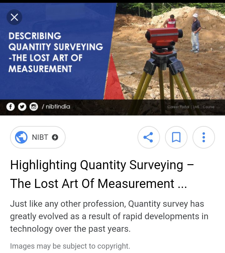 the evolution of the profession of quantity surveying