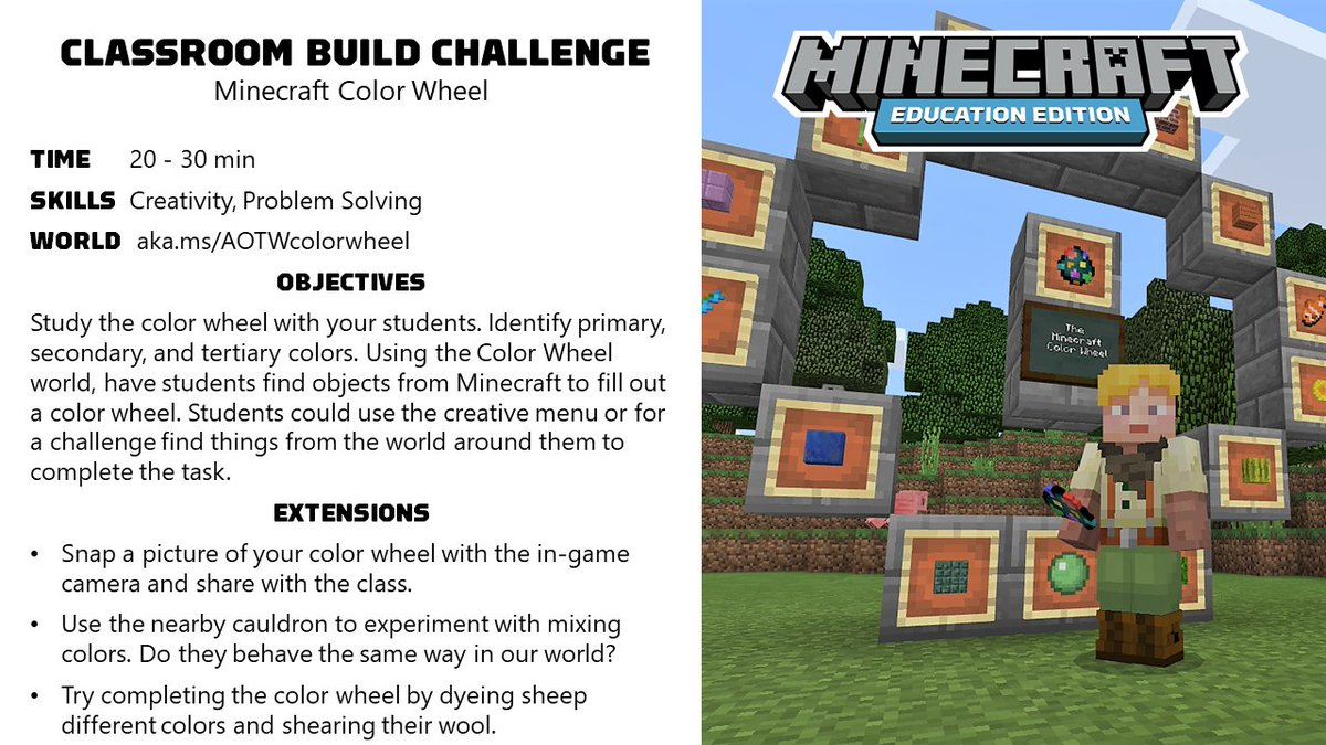 Minecraft Education On Twitter This Week S Activity Of The Week
