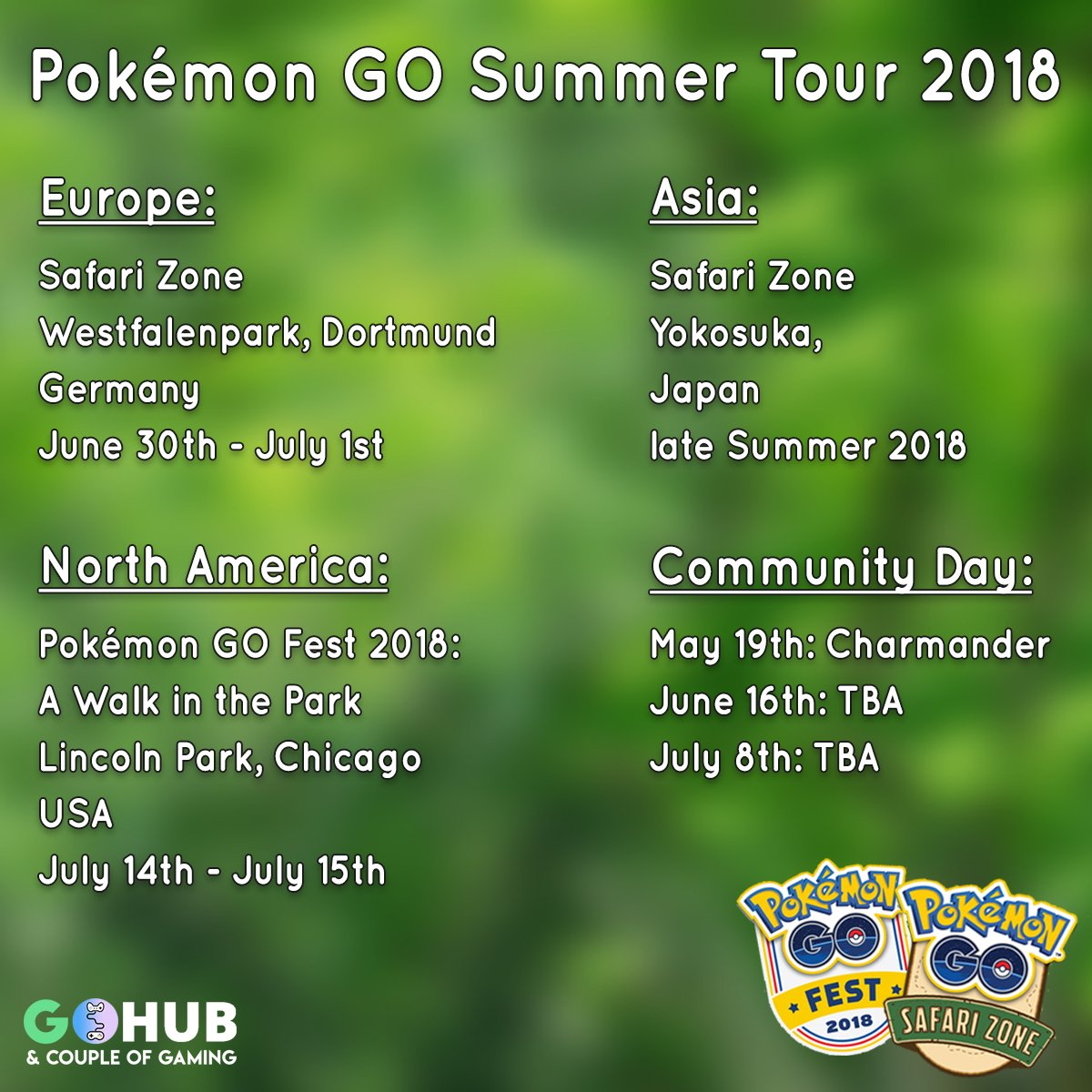 Pokémon GO Summer Tour 2018