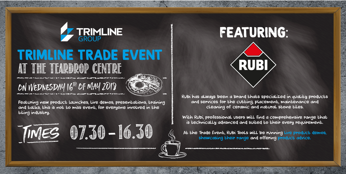 Trimline Group On Twitter Come To The TrimlineTradeDay To See - Ceramic tile cutting service