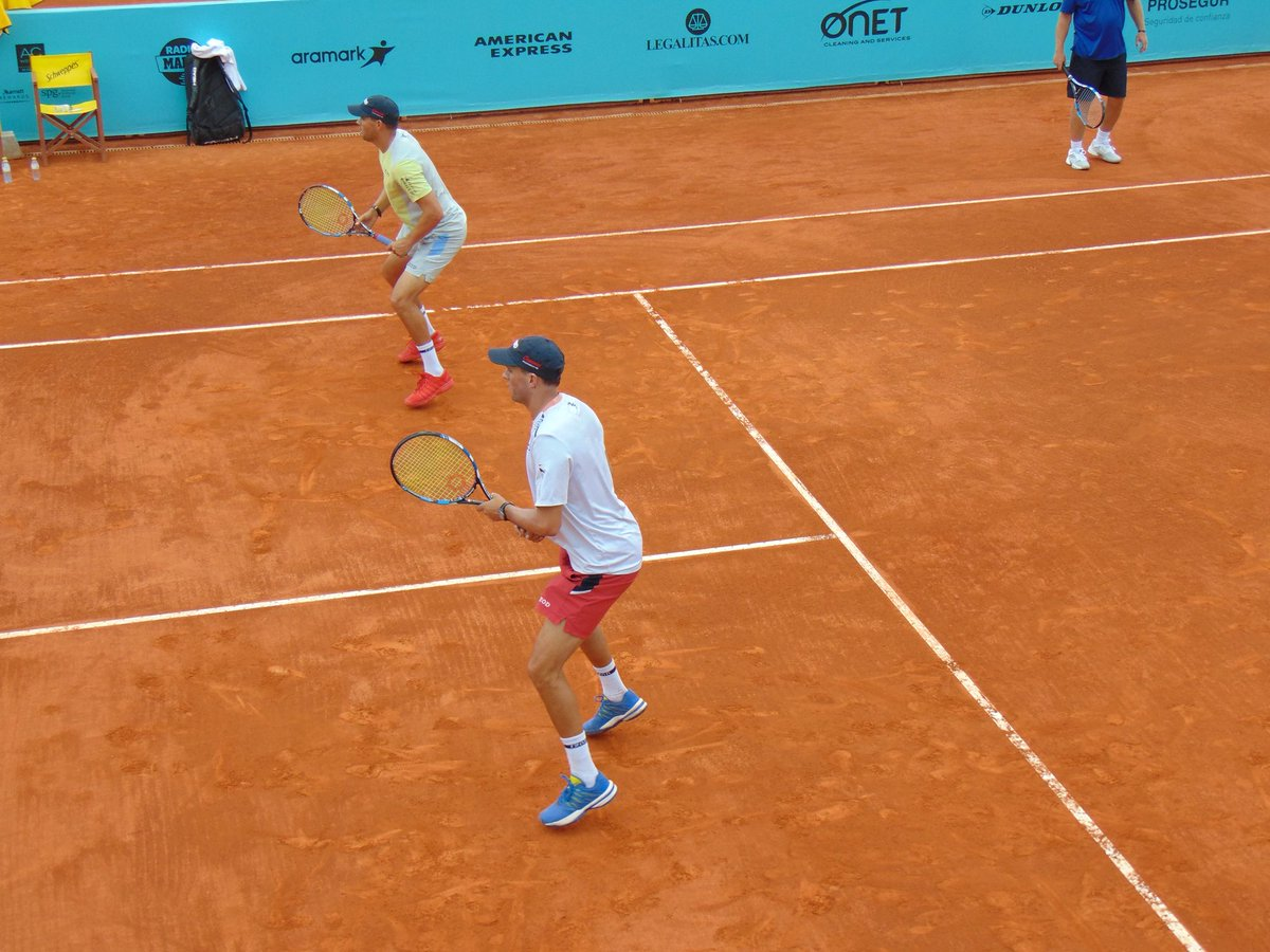 Some photos from today's practice at Caja Mágica #MMOPEN @Bryanbros @Bryanbrothers 💪🏻🎾