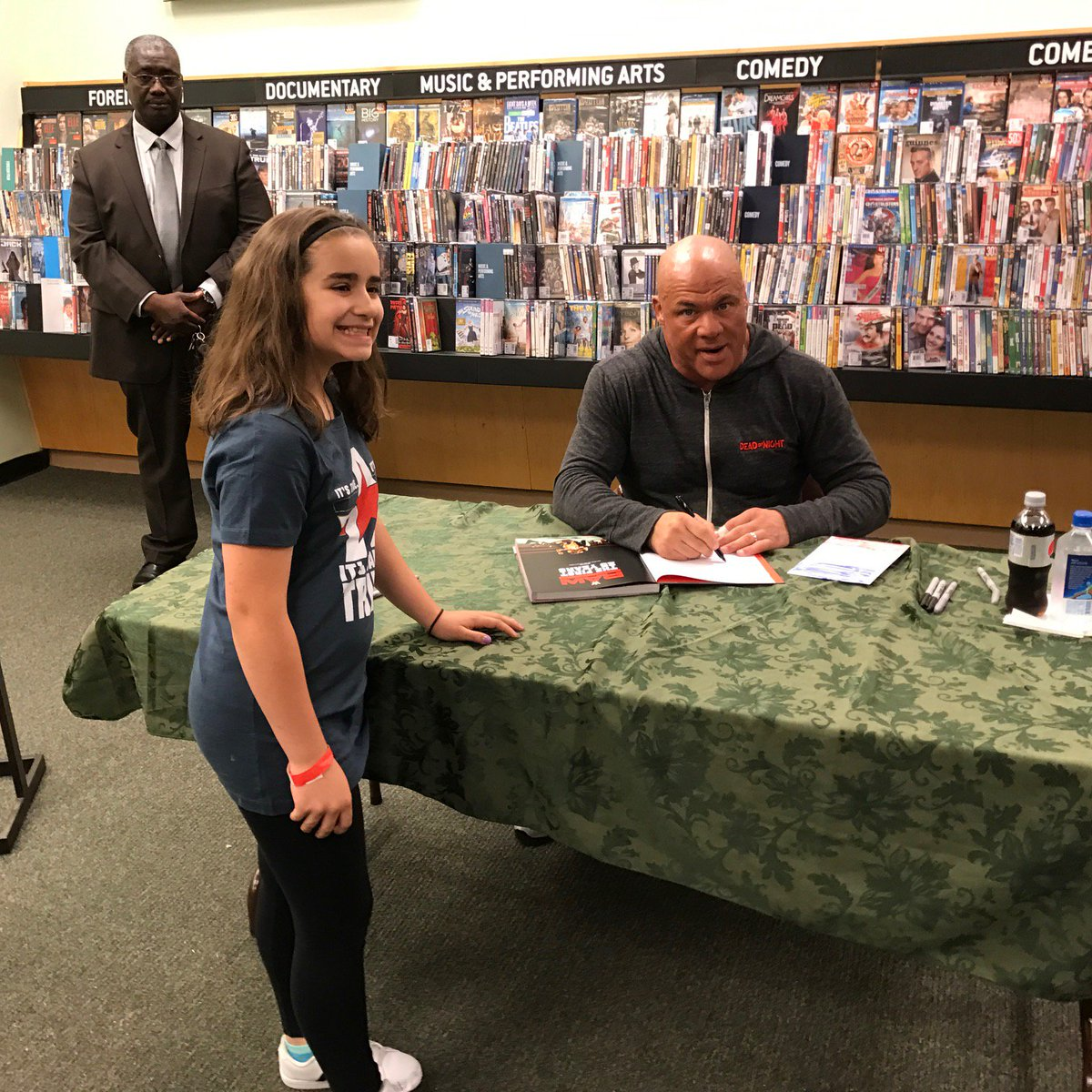 Oh its true! GM @RealKurtAngle stopped by @BNBuzz for the launch of #RAW The First 25 Years! Get yours now!- wwe.me/O1lcbE