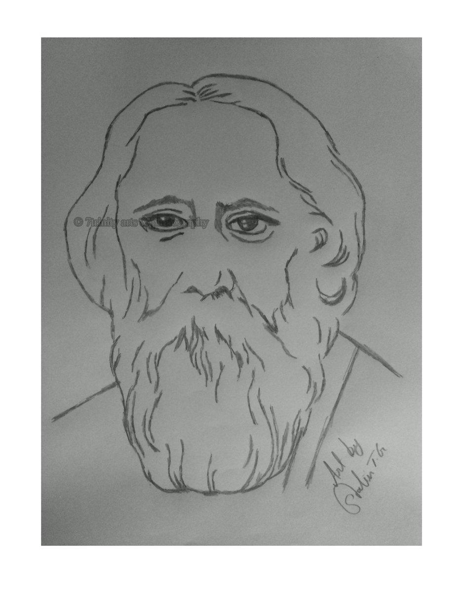 T g stalin on twitter hbdrabindranathtagore art pencilart pencilsketch rabindranath tagore was an author of gitanjali poet novelist musician