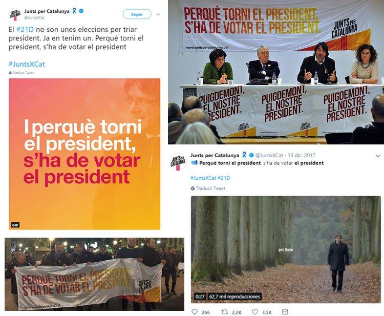 Resultat d'imatges de «Perquè torni el president, s'ha de votar el president»