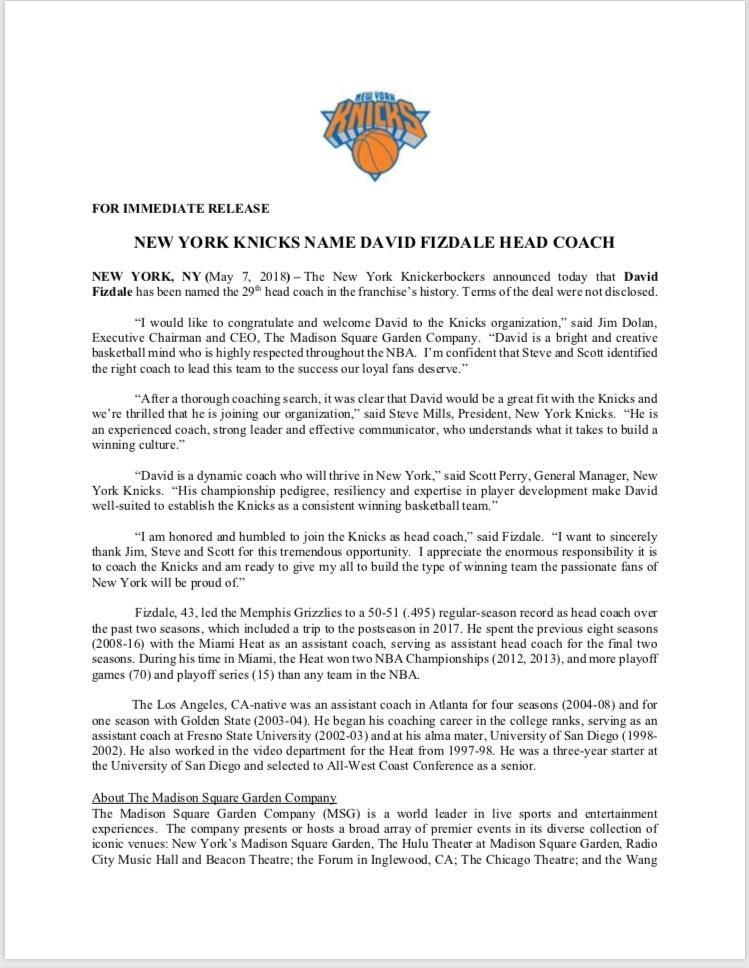 NY_KnicksPR on Twitter: \