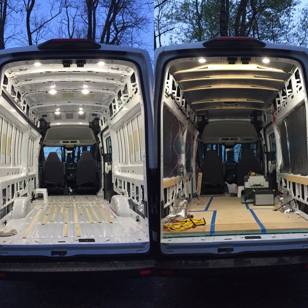 Gibson Outdoors On Twitter Only If You Done This Do Realize Commercial Motor Wiring Ok Insulation And Is Now We Can Start Officially Framing Everything Out Diycamper Vanlife Vanconversion Vanideaspic