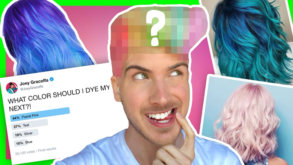 Joey Graceffa On Twitter I Let You Guys Decide My Hair Color