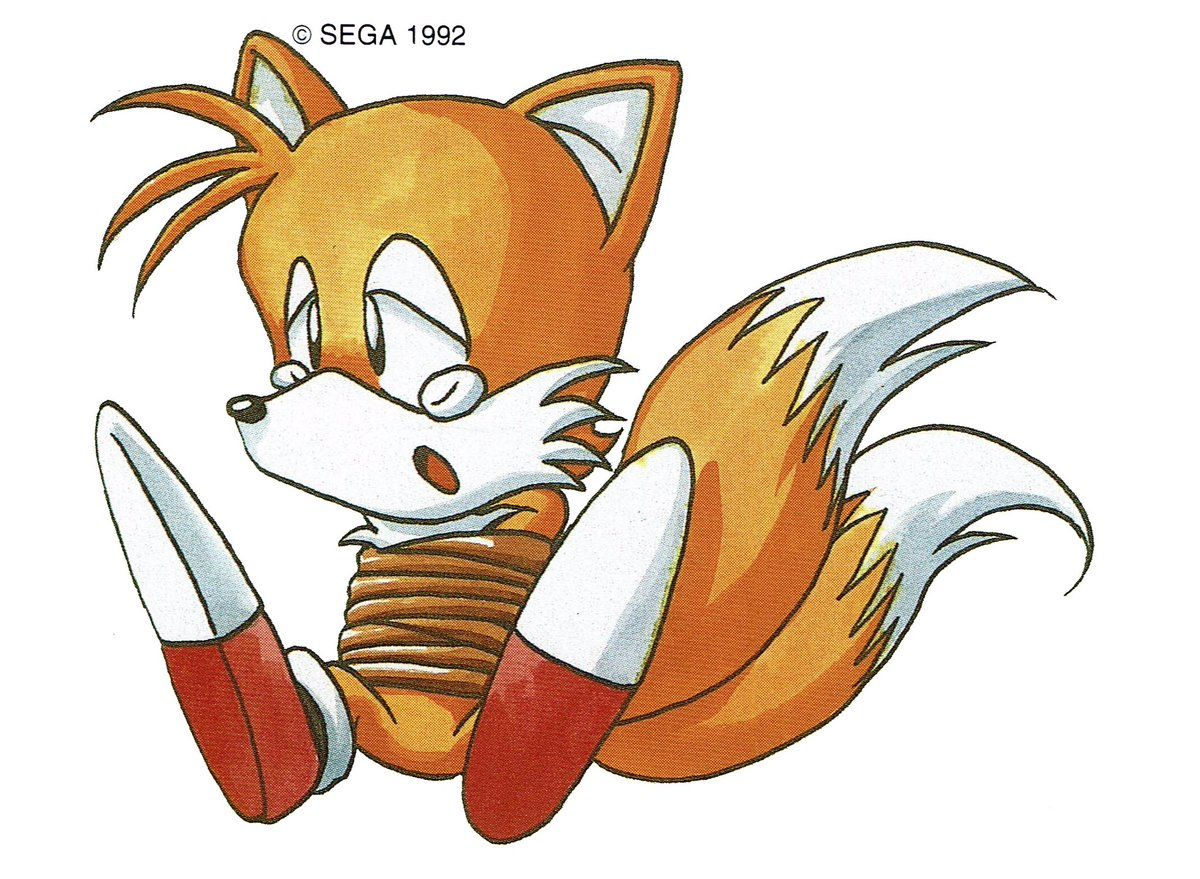 Videogameart Tidbits On Twitter Tails Artwork From Sonic The