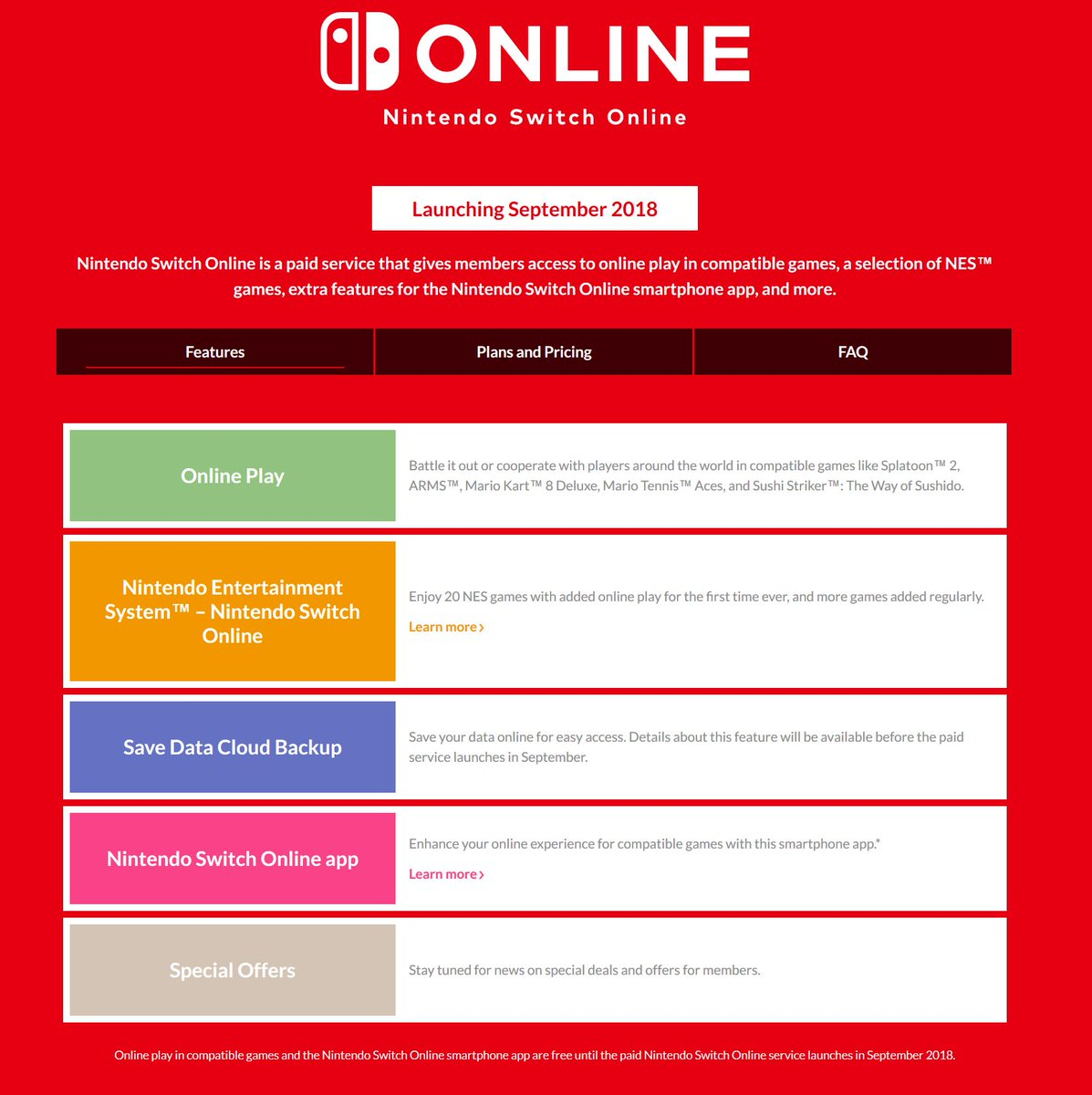 Nintendeal On Twitter Nintendo Switch Online Family Plan Is Mario Tennis Aces English Us Games Available At Launch Nes Have Coop Screen Share And Controller Passing Cloud Saves Still Coming Sept 2018pic Wv6spcd8b1
