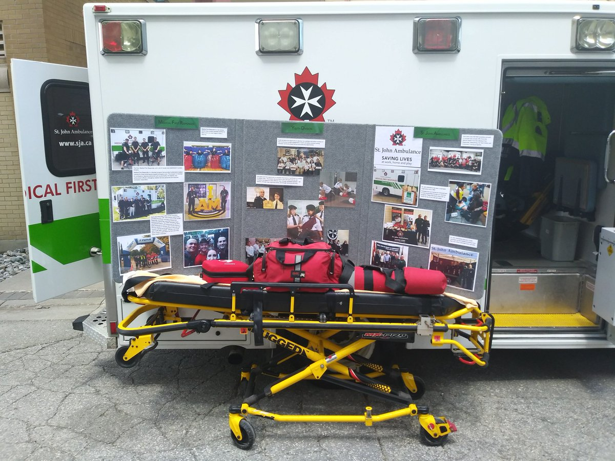 emergency preparedness week 2018 display with st josephs health cares emergency management specialist peter kreis thanks for having us out