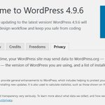 Image for the Tweet beginning: WordPress 4.9.6 Beta 1 Adds