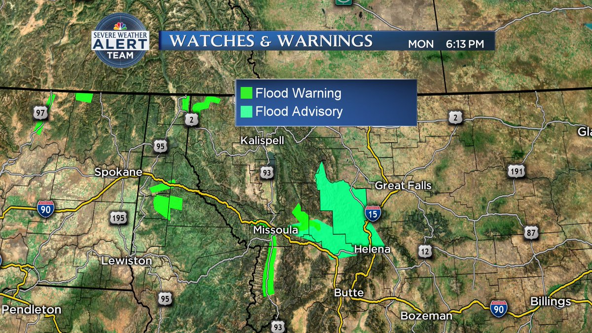 Nbc Montana On Twitter Flood Warning Continues For The Clark Fork
