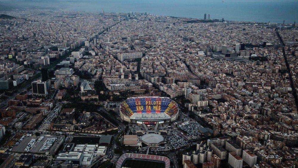 📷 Camp Nou + Barcelona + Mediterrâneo 😍 💪 #ForçaBarça 🔵🔴