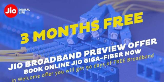 In Jio Giga Fiber to the Home Service, Get every month 1.1 TB free data