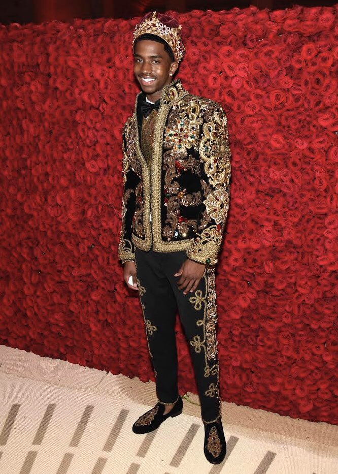 Image result for christian combs met gala 2018