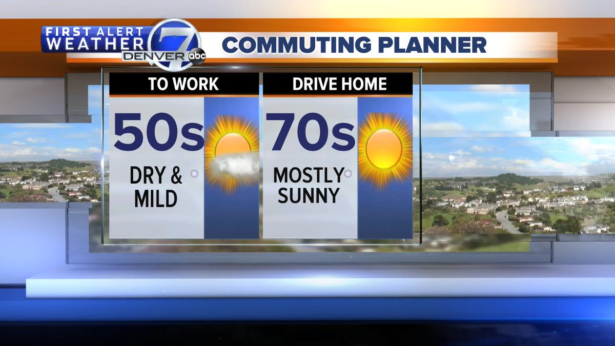 It's going to be GORGEOUS today!  Sunshine and highs near 80 degrees this afternoon.  #yassssss #cowx @DenverChannel