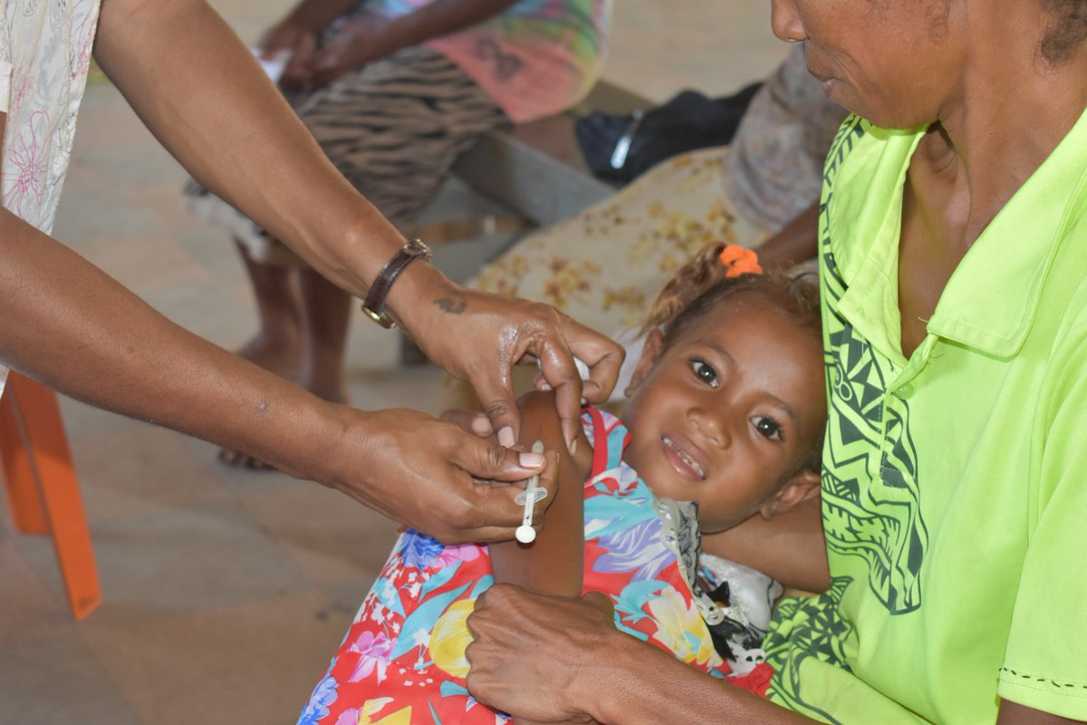 Thousands of children like 4-year-old Ova Ura James of Tatana Village who missed out on life-saving immunisations now have the opportunity to be immunised against deadly but vaccine preventable diseases in a special week-long immunisation campaign in Port Moresby.
