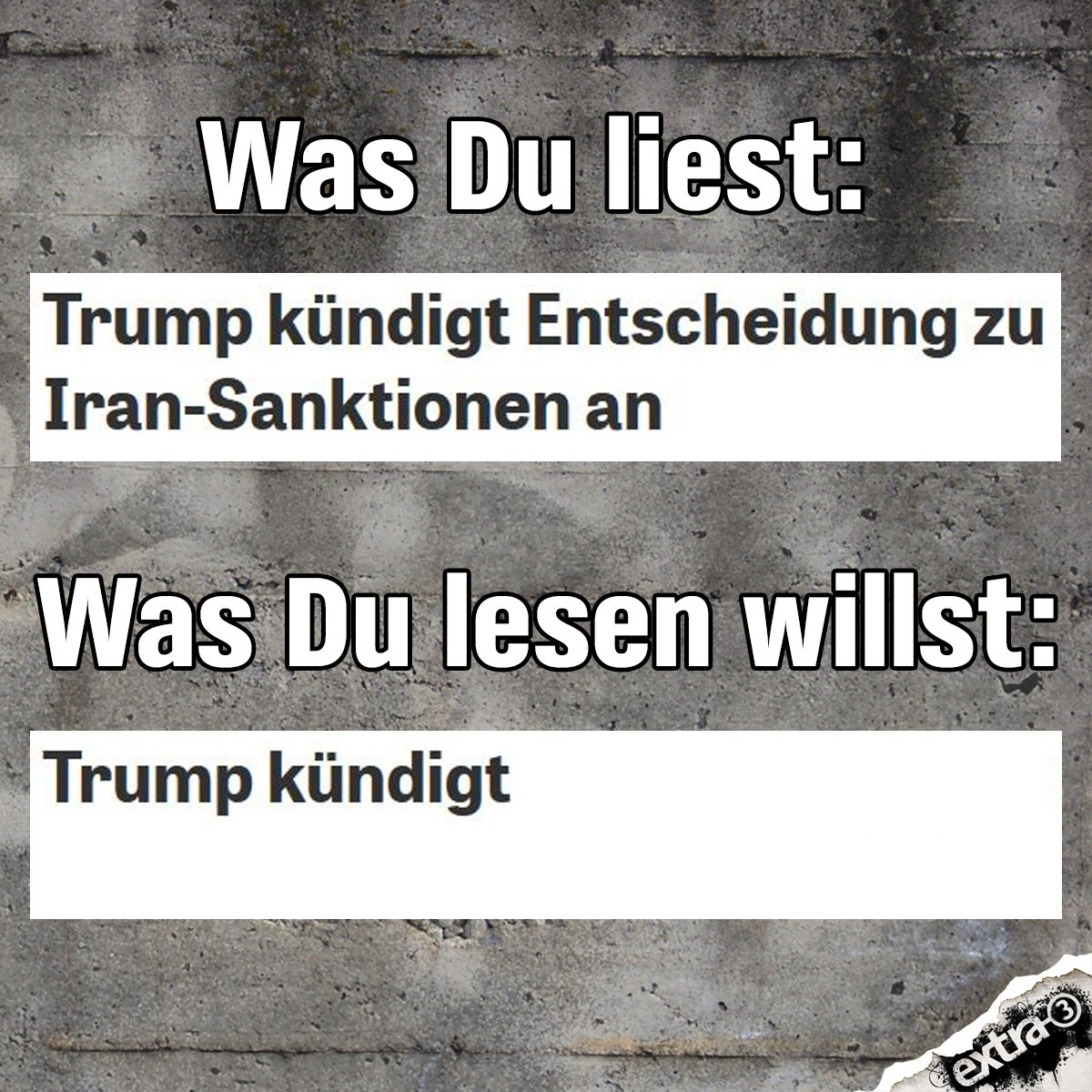 Und wenn man fest genug daran glaubt? #Trump #Iran