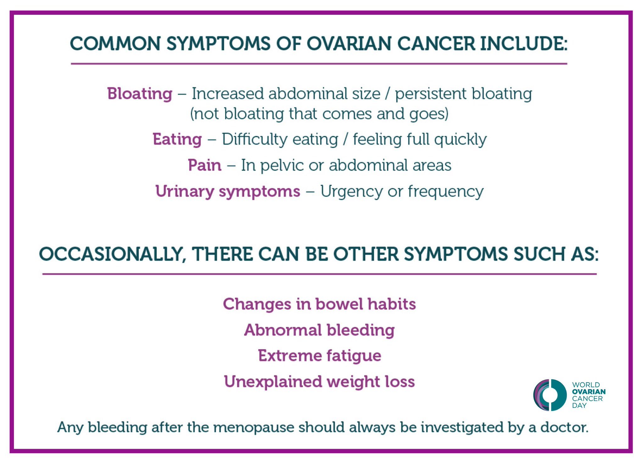 European Cancer Leagues On Twitter May 8th Is World Ovarian Cancer Day Today Be Encouraged To Learn More About One Of The Most Common Types Of Cancer In Women And Raise Awareness