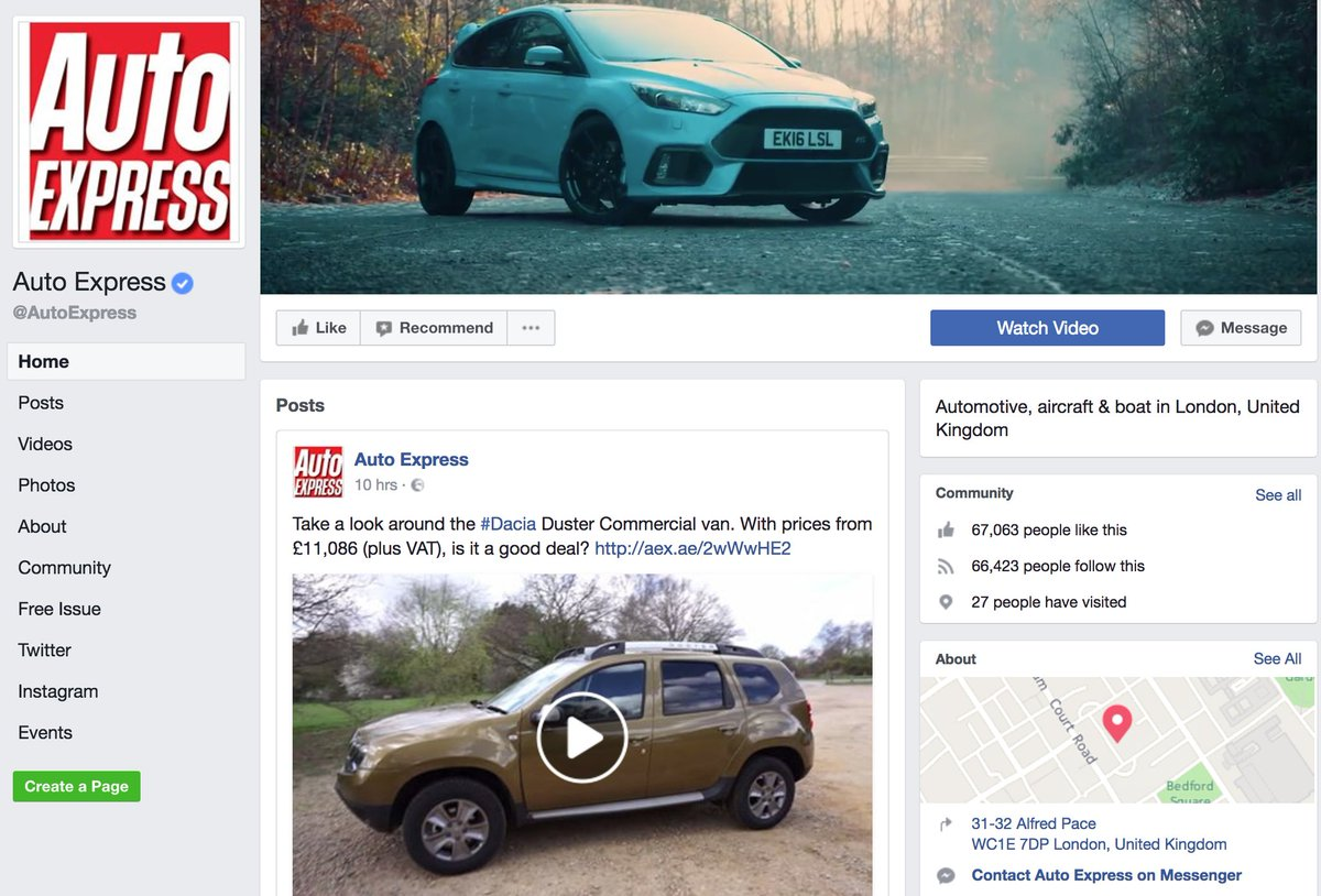 like the auto express facebook page for all the latest news, car