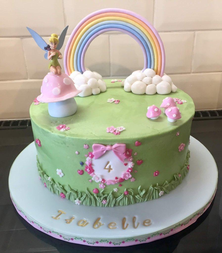 Sarah Phillips On Twitter Buttercream Covered Tinkerbell Birthday Cake Birthdaycake Buttercreamcake TinkerBell Girlycake Homebaker