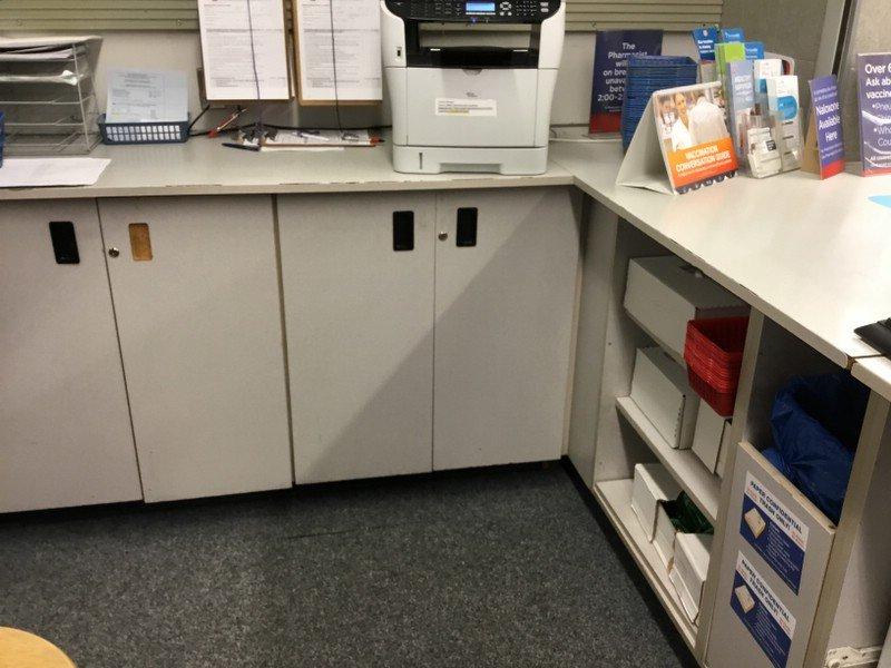 ... Shelving And Cabinets For A COMPLETE PHARMACY Available At This Rapid  Liquidation In Columbus, GA. Drug Shelving, Under Counter Cabinets, Other  Pharmacy ...