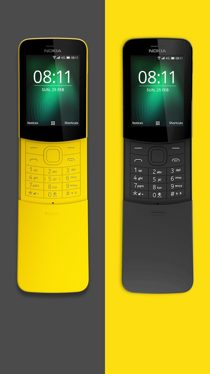 Nokia Mobile On Twitter The Iconic Nokia8110 4g Banana Phone Is Xl Yellow Back For 2018