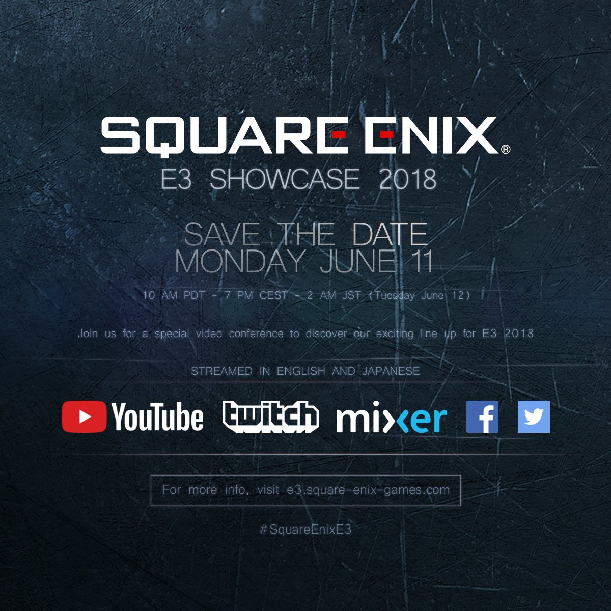 Square Enix E3 Showcase 2018