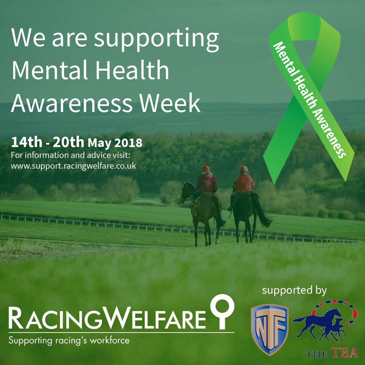 Racing Welfare On Twitter Next Week Is Mental Health Awareness