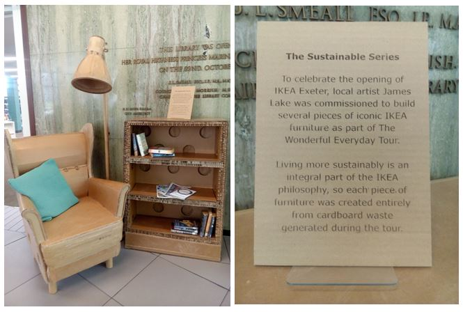Some Replica Ikea Furniture Made Entirely From Cardboard Waste And We Are Delighted To Have It On Display At Exeterlibrarypic Twitter Obnxweyxik