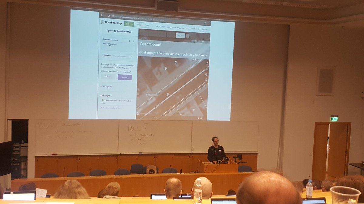 Thanks #OSGeoFi for the #foss4gfinland event today! #OpenStreetMap #Mapsprint by Eduardo was of course one of the highlights :)