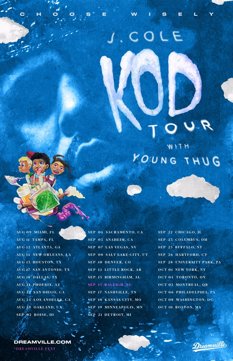 J Cole On Twitter Kod Tour Youngthug Presale Tomorrow Tix On