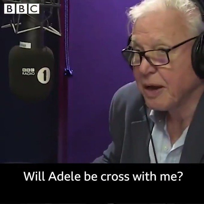 When convinced Sir David Attenborough to narrate Adele\s \Hello\ Happy birthday to a legend!
