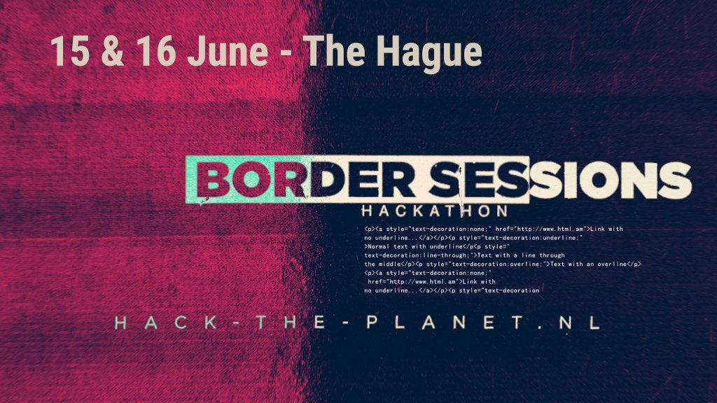 Let's unite to take on some real global challenges! Sign up for the @h4ck_the_planet Hackathon at Border Sessions Festival now #bordersessions18 #techfest #hacktheplanet