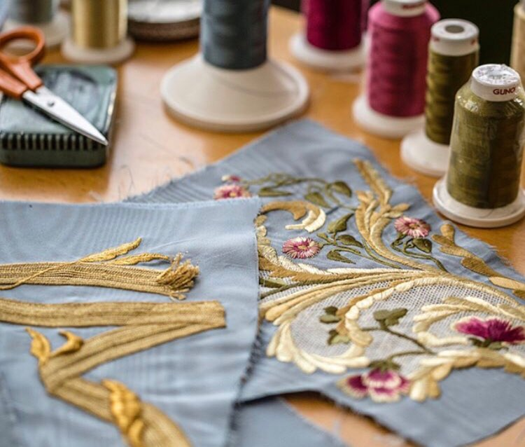 Congratulations 3rd year Photography student @Jo_Randall   Absolutely delighted to see her images on the @erdem feed yesterday. Work in progress from Jenny King Embroidery.   The countdown to the #MetGala2018 Heavenly Bodies: Fashion and the Catholic Imagination