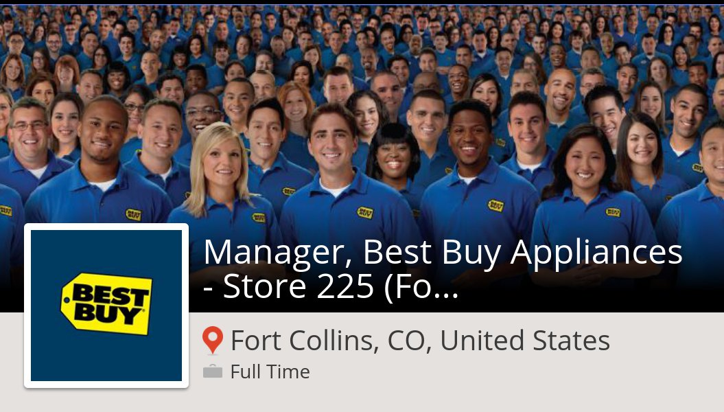 Taylor Kunzi On Twitter Apply Now To Work For Bestbuy As Manager