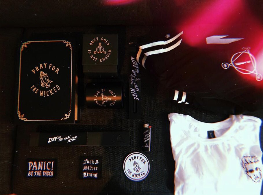 57cb1af1 Pray For The Wicked bundles looking all sinful  https://store.panicatthedisco.com/ pic.twitter.com/mYIWhHldqm