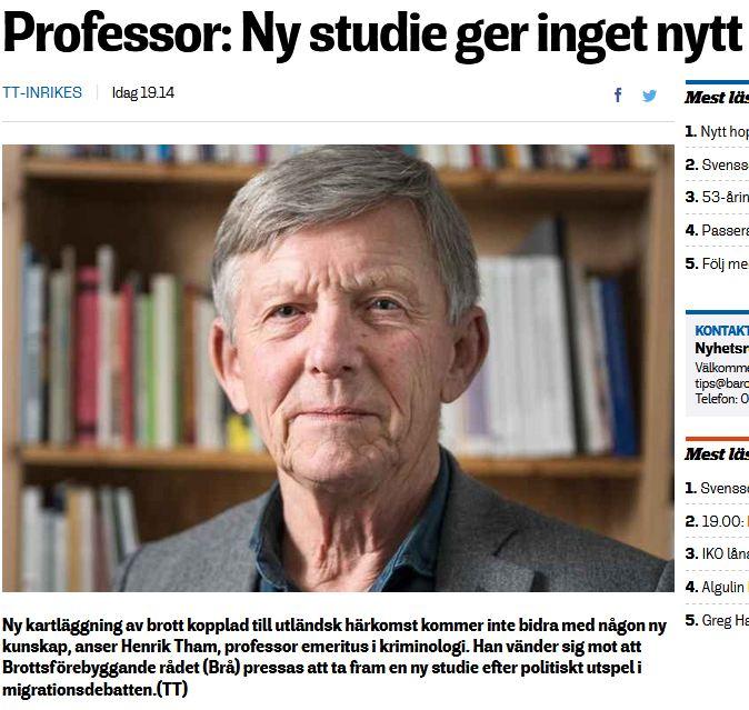 Professor ny studie ger inget nytt