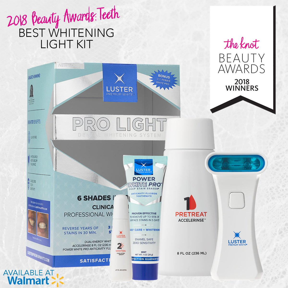Luster Premium White On Twitter See For Yourself Why Theknot Named Luster Pro Light The Best Whitening Light Kit Available At Select Walmart Stores Nationwide Click Here To Save 7 On Your