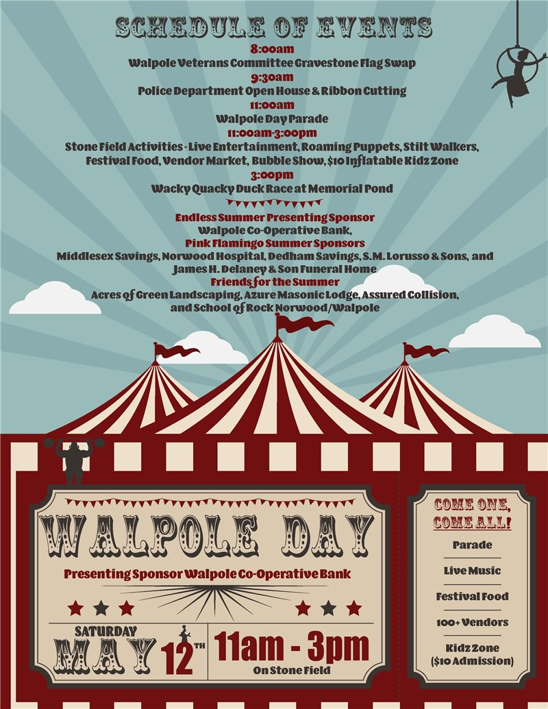 Walpolepolice Station At 9 30am Walpole Day Parade 11am Activities For The Whole Family On Stone Field From 3pmpic Twitter Fghjcwjihv