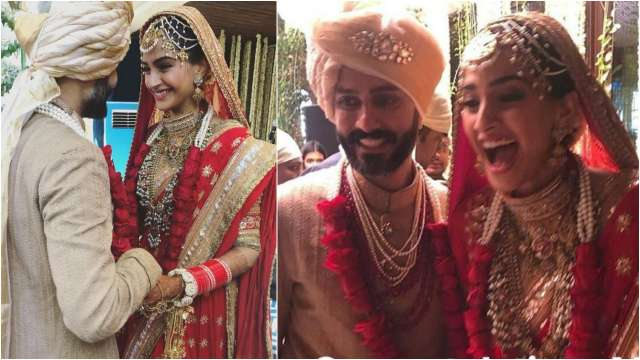 Sonam Weds Anand: A goofy Sonam Kapoor jumps to put jaimala on Anand Ahuja first, Video goes viral ##sonamkishaadi #AnandAhuja #Bollywood #jailmala #SonamAnandWedding #sonamandanandwedding #SonamKapoor #SonamKapoorAnandAhujawedding #SonamKapoornews #Sonam http://www.b2s.pm/DlQzYd