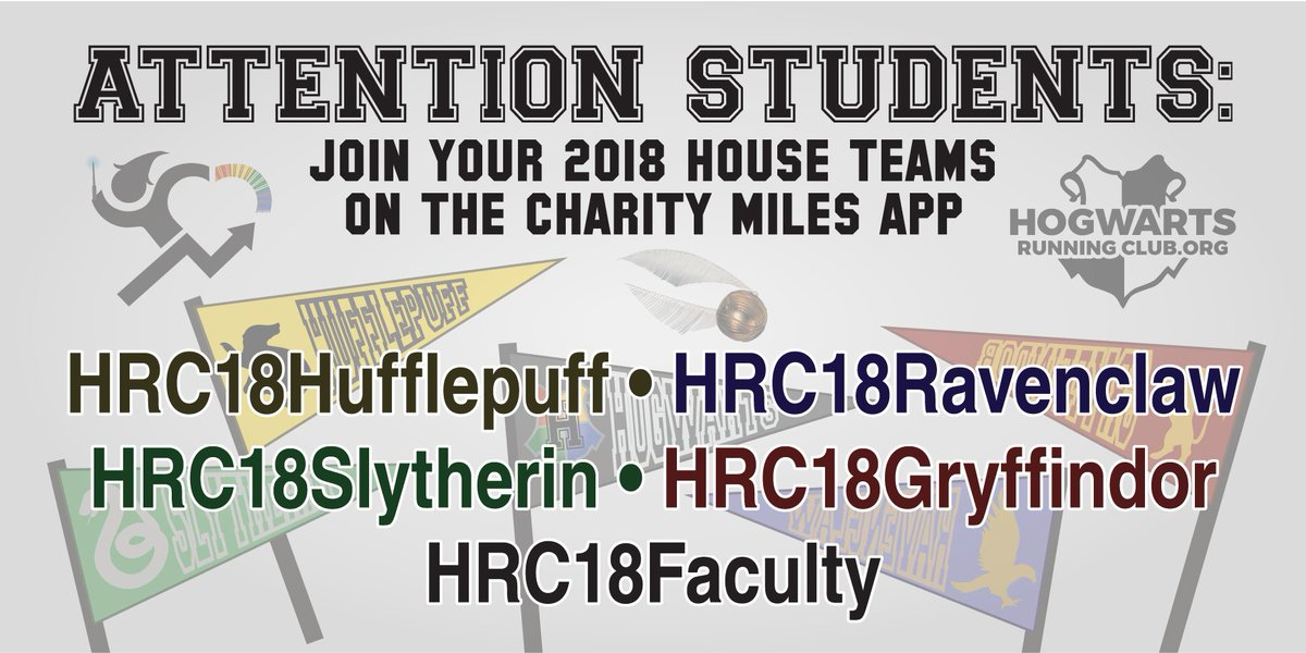 hogwarts running club على تويتر download the charitymiles app