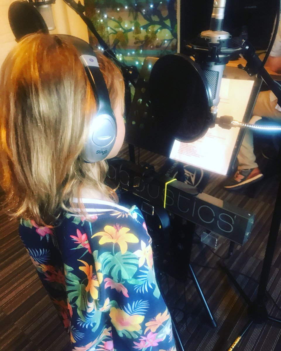 #studiotime Tate's happy place #lovessinging 🎤 we couldn't get Tate off the mic!