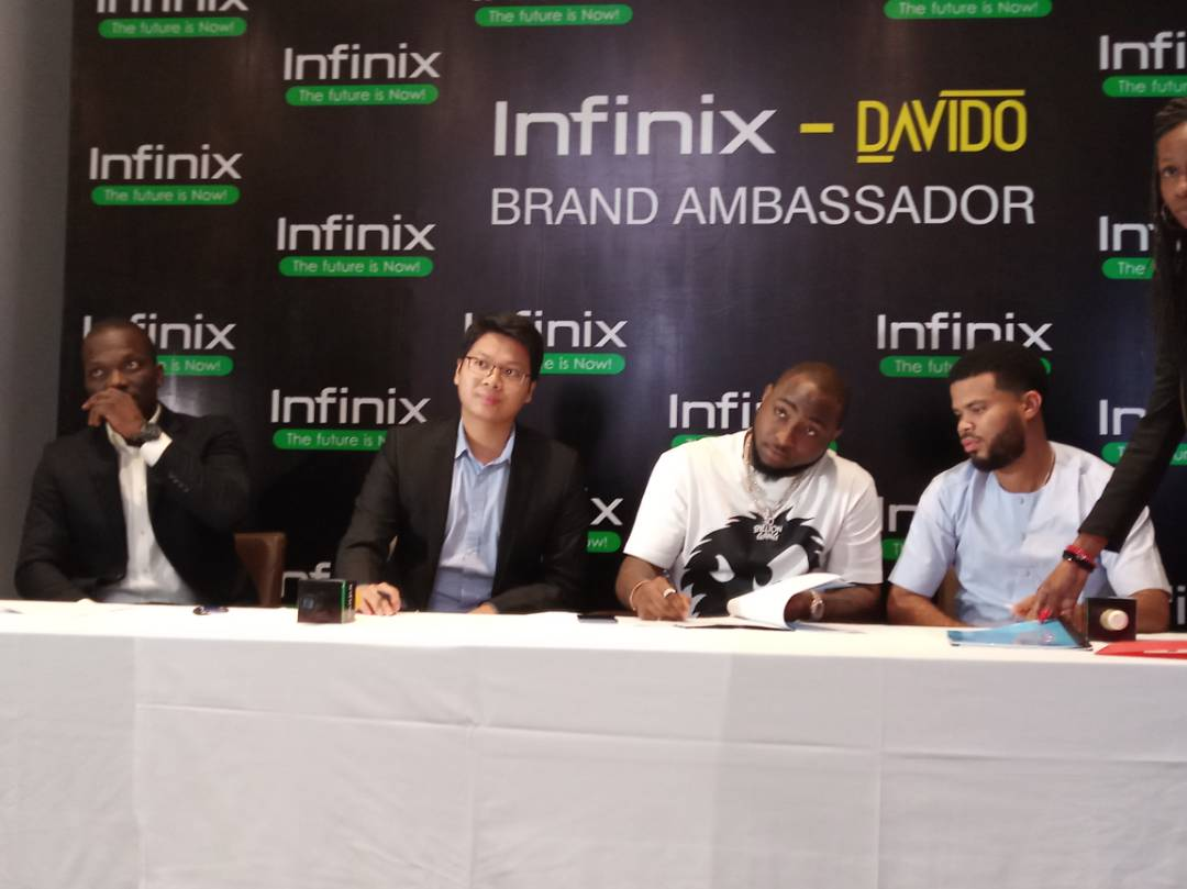 Breaking: Davido Unveiled As The New Brand Ambassador For Infinix Mobile, #DavidoAndInfinix