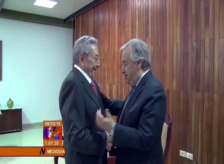 Raúl recibe a Antonio Guterres