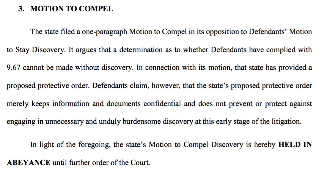 Discovery Of Information About Proposed >> Miki Turner On Twitter Given The Ruling From The Court On The