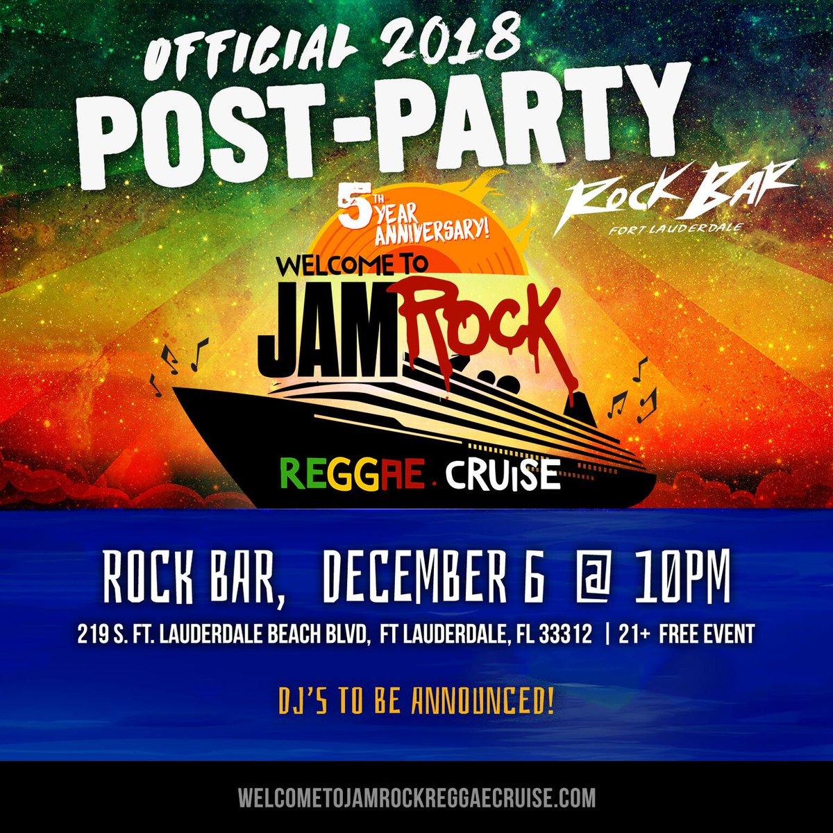Jamrock Cruise 2020.Jamrock Reggae Cruise Auf Twitter Official Post Party