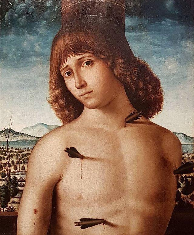 #PietroDeSaliba #SaintSebastian #OilOnWood #painting @accademia_carrara #Bergamo #arrows #martyr https://t.co/gVkO6OiHSw